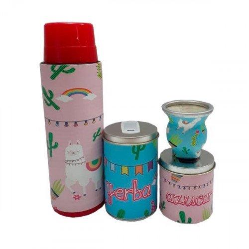 Set latas diseño con termo vidrio
