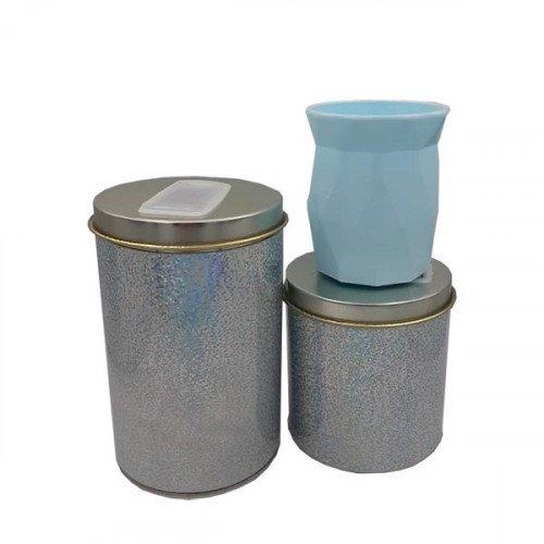 Set latas con mate rombo