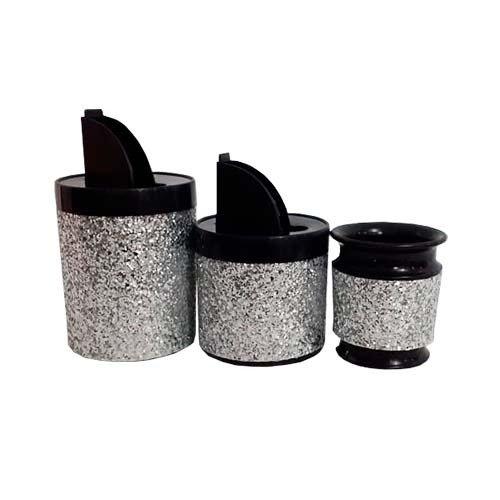 Set latas plasticas brillosas