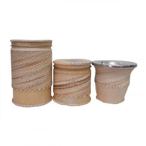 Set latas trensilladas c/mate  calabaza