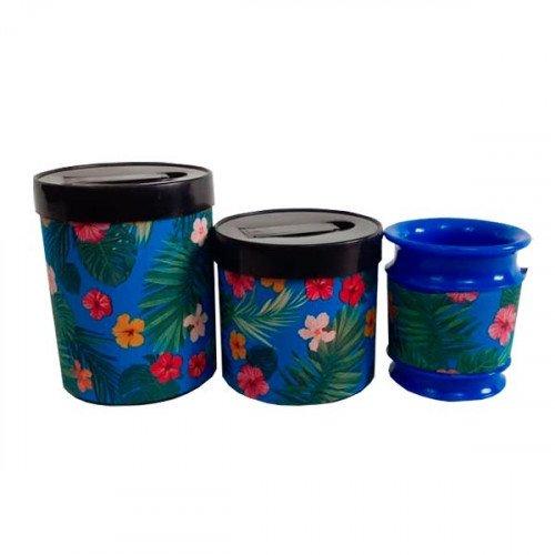 Set latas Plasticas c/mate