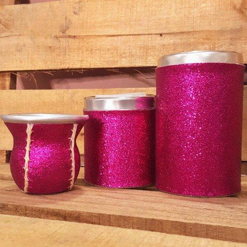 Set latas C/mate costura