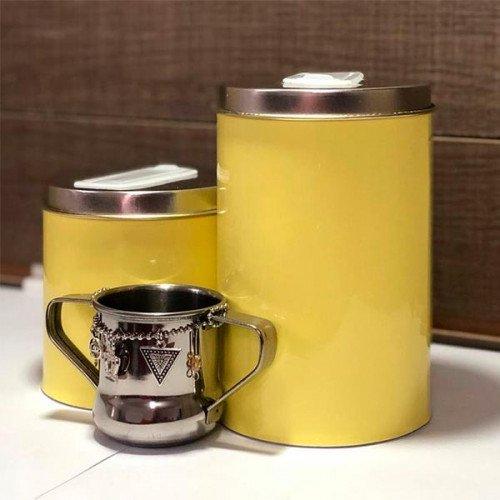 Set latas c/mate acero chik