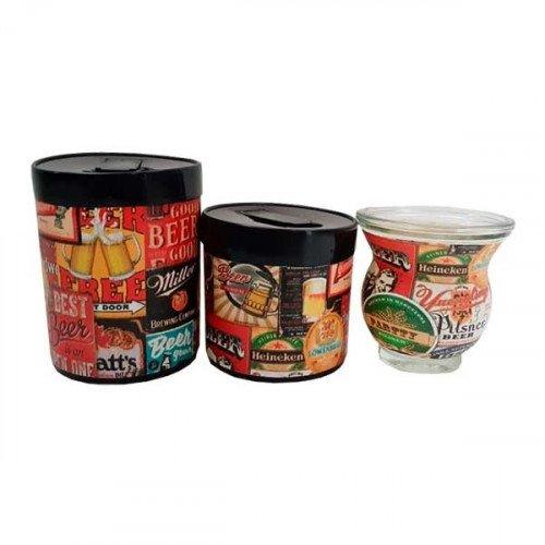 Set latas plásticas mf
